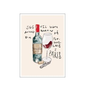 Poster and Frame - Gustav Lautrup, Vin à Paris, A3