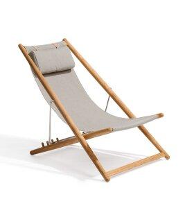 Skargaarden - H55 liggestol Teak og sunbrella stof