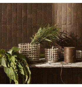 ferm LIVING - Ceramic Basket Cashmere, Small