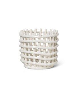 ferm LIVING - Ceramic Basket Offwhite, Small