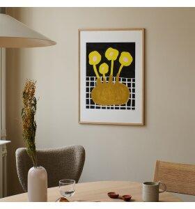 The Poster Club - Madelen Möllard, Flowers in brown vase 30*40