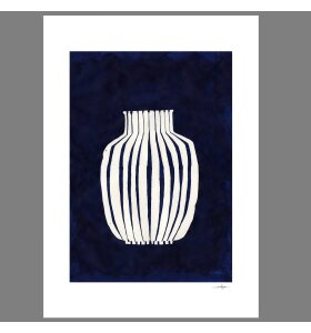 The Poster Club - Ana Frois, Blue Vase, 30*40