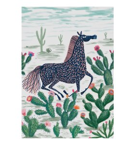 Aparte - Llew Mejia Horse on the high Plains, 50*70