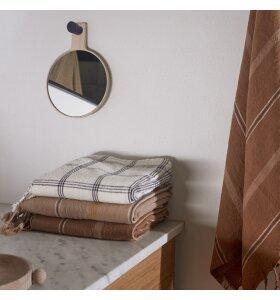 OYOY Living Design - Kyoto Badehåndklæde, Dark Powder