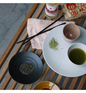 HK living - Japansk stor middagstallerken Kyoto, Hvidnistret