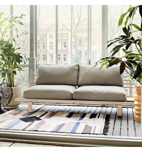 HK living - Håndvævet tæppe Multi, 120*180