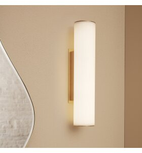 ferm LIVING - Vuelta væglampe 40, Hvid/messing