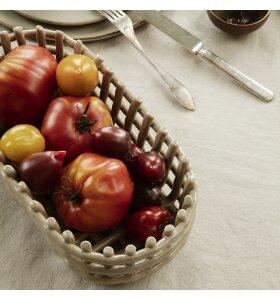 ferm LIVING - Ceramic Basket Cashmere, Oval