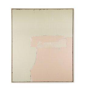 HK living - Abstrakt Maleri Olive/Nude, 100*120 - Hent selv