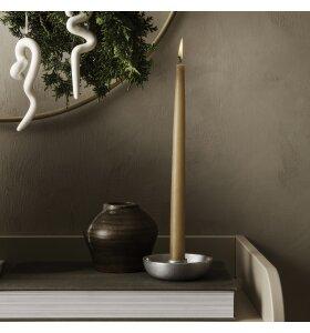 ferm LIVING - Bowl Lysestage Single, Aluminium