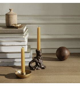 ferm LIVING - Bowl Lysestage Single, Messing