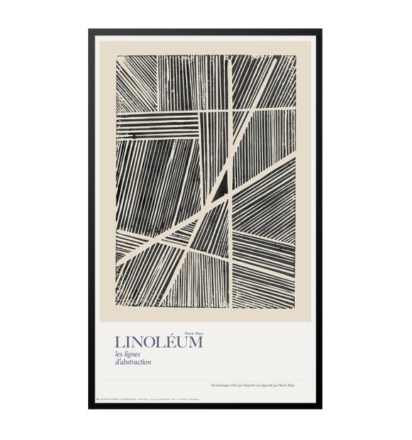 Permild og Rosengreen - Linoléum, les lignes d'abstraction, 33*55 - Hent selv