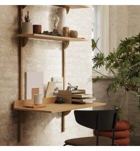 ferm LIVING - Sector Desk Natur eg/Sort messing