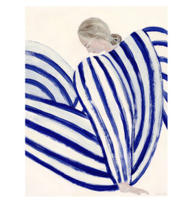 The Poster Club - Sofia Lind Blue Stripe At Concorde, 50*70