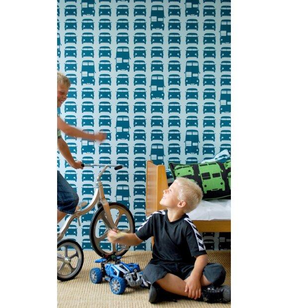 ferm LIVING Kids - Tapet, Rush Hour, blå