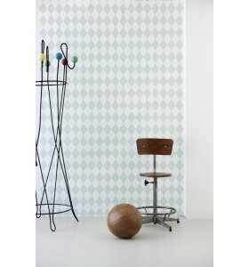 ferm LIVING - Tapet, Harlequin, mint