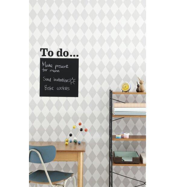 ferm LIVING - Tapet, Harlequin, grå
